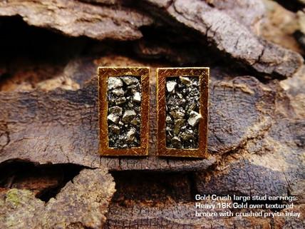 Lg Gold crush earrings