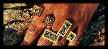 Gold crush rings