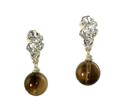 Smoky Quartz Voodoo Lily Earrings