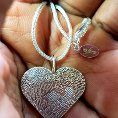 Custom Forever with You Heart Necklace