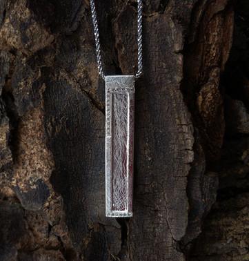 Lg. Sterling silver Window Pendant