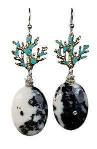 Josanne Mark zebra jasper earrings