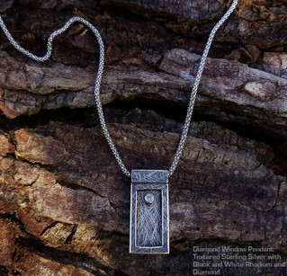 Sterling silver Window Pendant