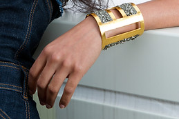 Gold crush Statement Cuff