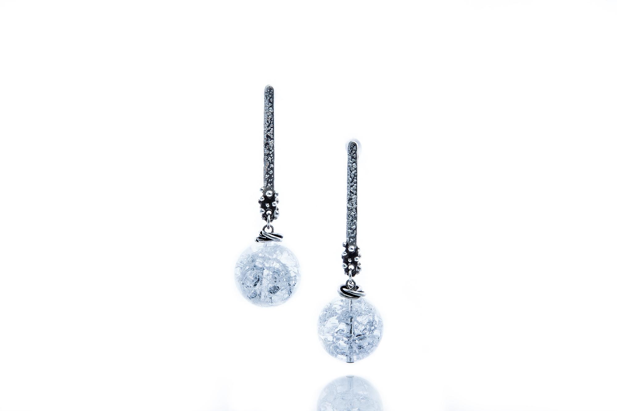 Rock Crystal drop earrings