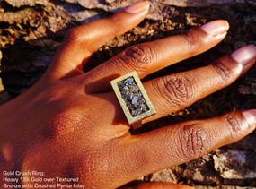 Gold crush ring
