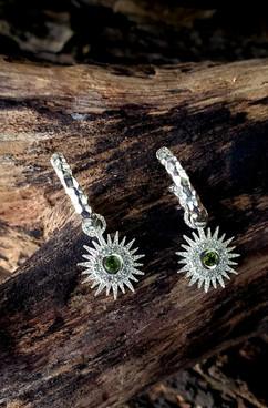 Sunburst charm hoop earring.jpg