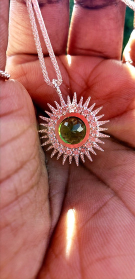 Custom Sunburst Necklace