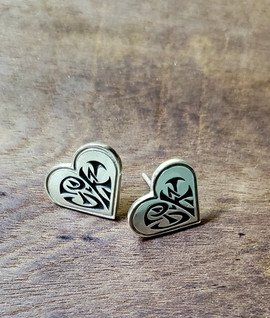 Custom made insignia stud earrings