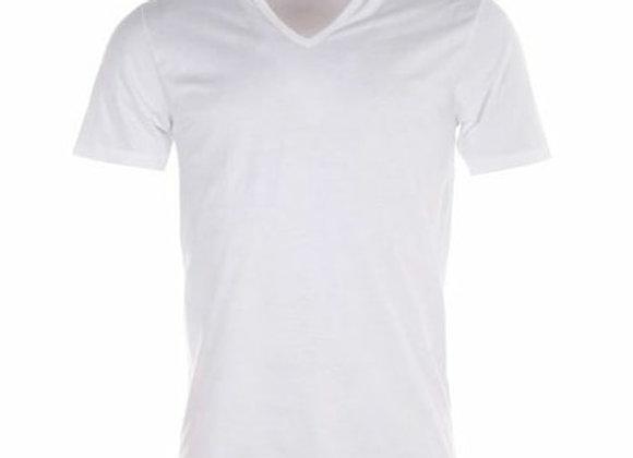T-shirt col V 100% coton