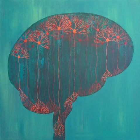 Forêt neuronale • Orange Brainbow