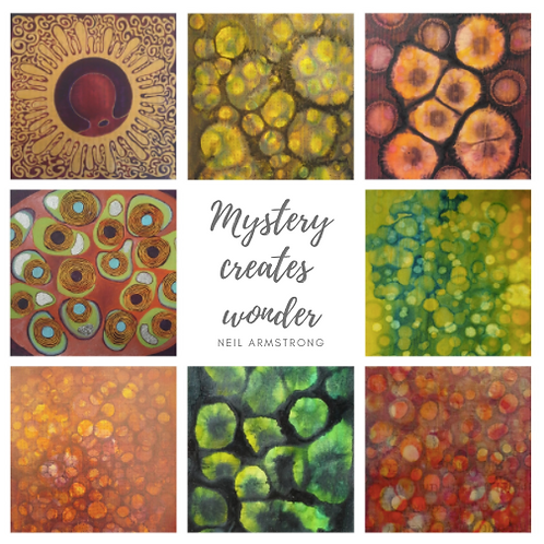 "Carte postale ""Mystery creates wonder"""