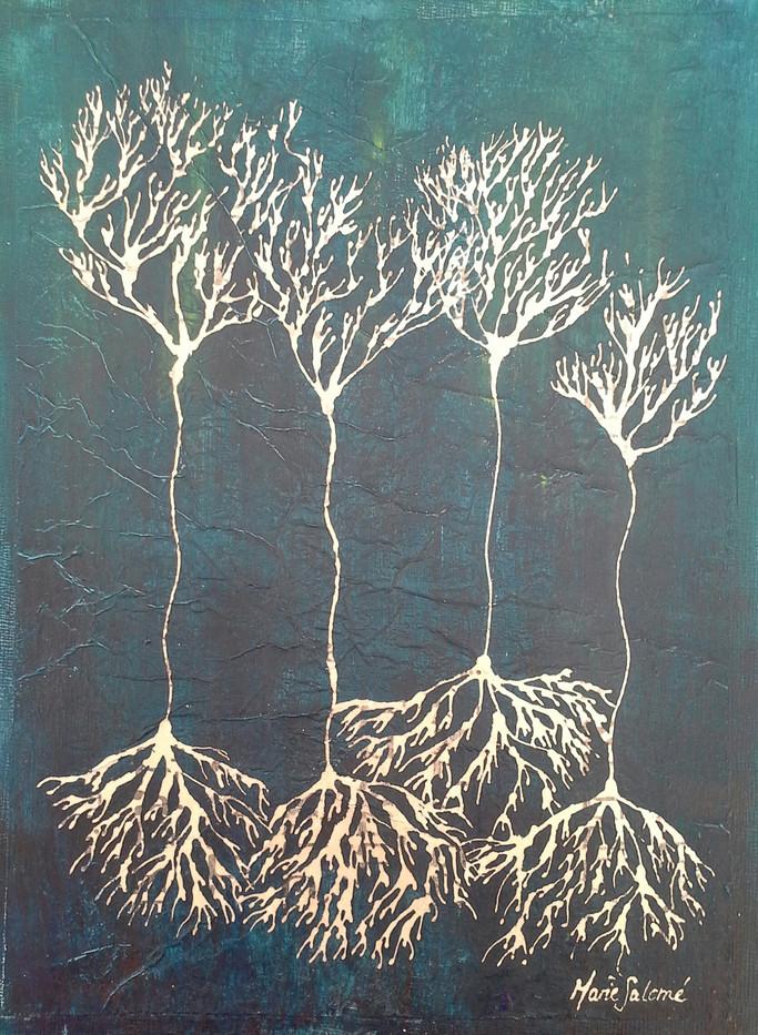 Forêt neuronale argentée