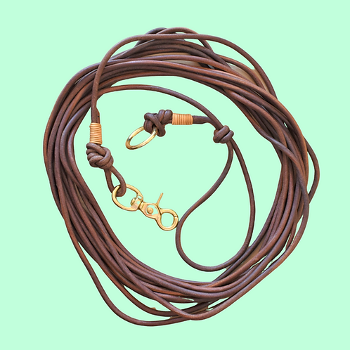 Tracking + Scent Work Long Line - Round Leather Cord