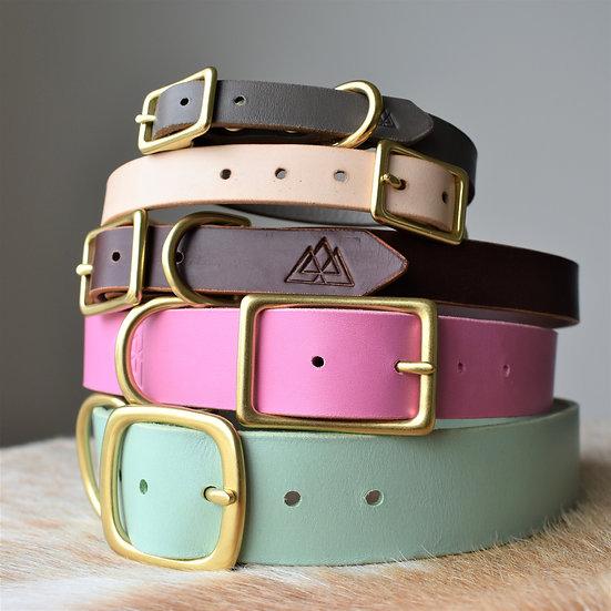 'Plain Dane' Leather Collar