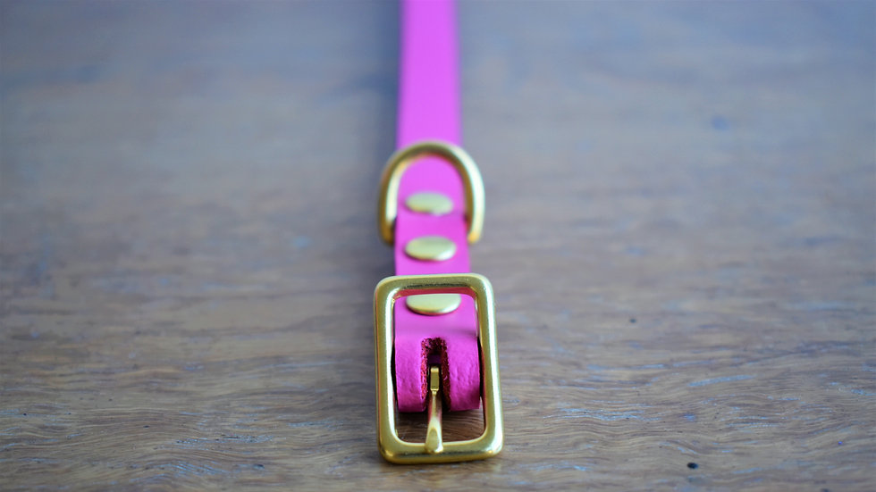 Hot Pink Collars [Plain + Braided]