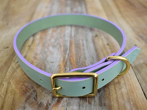 Mint Collar + Lilac Edges: Fit 37-45cm Neck