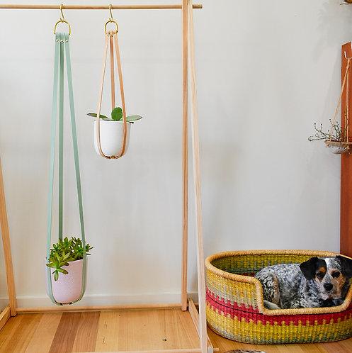 Leather Pot Plant Hanger
