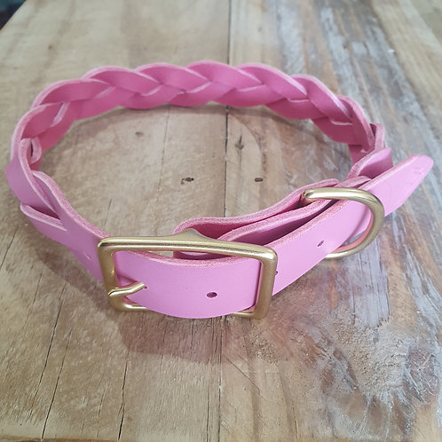 Pink 'Braid Envy' Collar: Medium