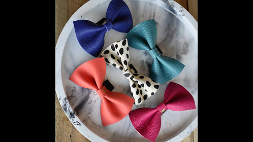 Leather Bow Tie - Assorted Colours