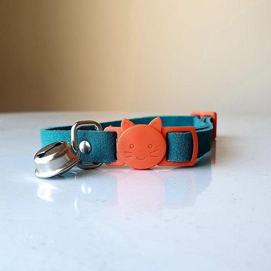 'Puss in Boots' Cat Collar - Teal