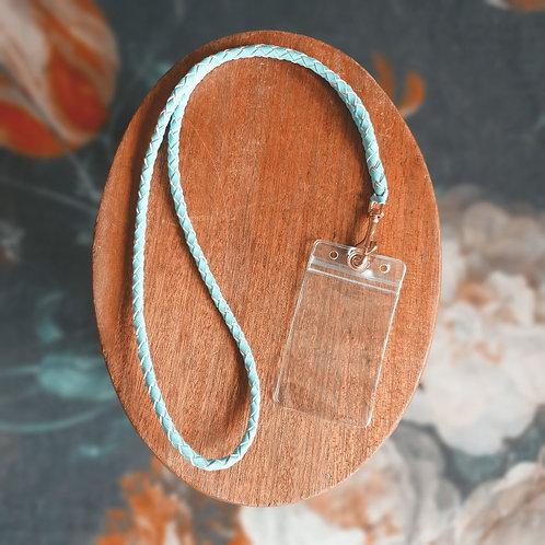 Kangaroo Leather, Braided Lanyard - Competitor Number Card Holder