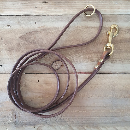 "CUSTOM: 'Long Walks' Leather Leash - 1.8m x 1"""