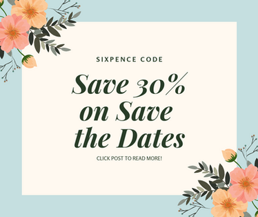 save 30% on save the dates