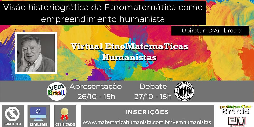 VEm Humanistas - dias 26/10 e 27/10