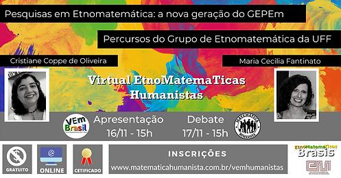 VEm Humanistas - dias 16/11 e 17/11