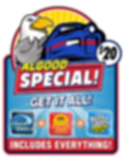Got $20.00? Get your car totally washed and waxed to the hilt at Algood Express Wash!