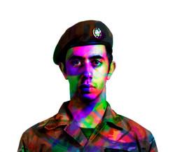 Soldier self-portrait