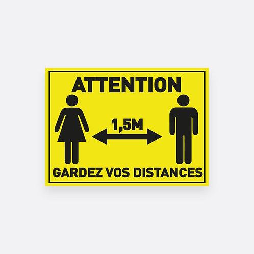 """Sticker """"Gardez vos distances"""""""