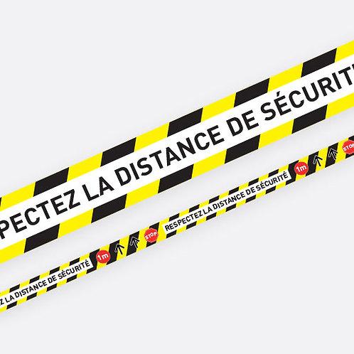 """Rouleau de marquage au sol """"Respectez les distances de sécurité"""""""