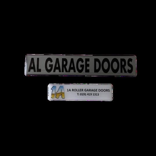 Garage Door Domed Labels