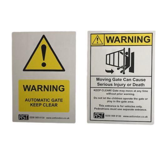Metal Signs for Automatic Gates