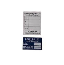 Lifting gear Vinyl Self-adhesive Labels