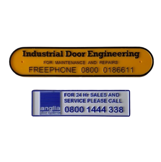 Door Injection Moulded Nameplates