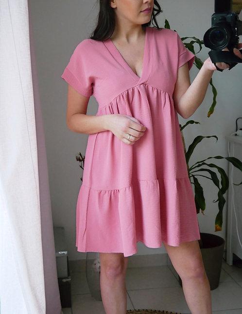 Robe GAIA - Rose - Fabriquée en France