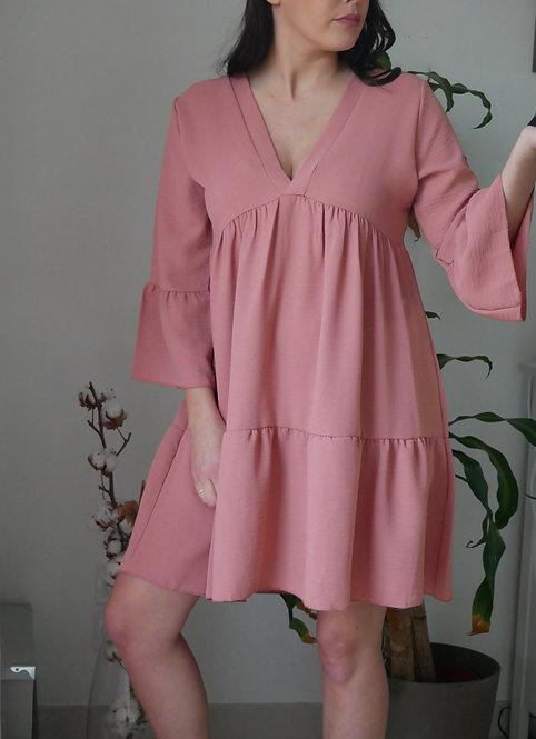 Robe MOON - Rose - Fabriquée en France