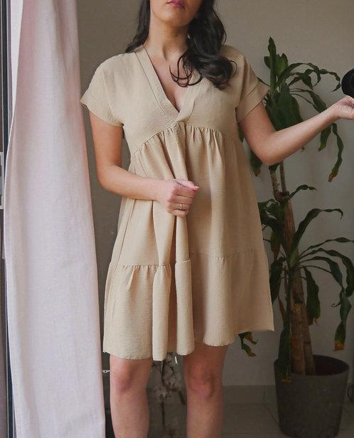 Robe GAIA - Nude - Fabriquée en France