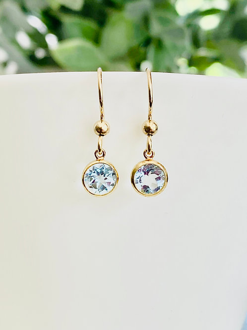 Little blue topaz earrings
