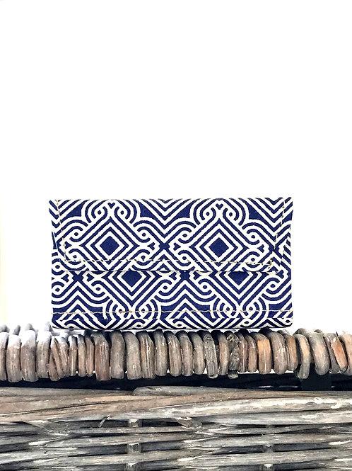 Indigo print handmade paper box