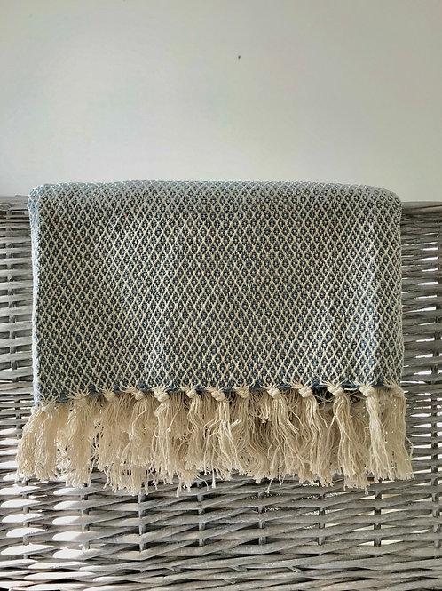 Handloom cotton throw