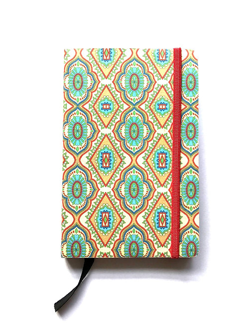 Handmade notebook - the cover is made from recycled cotton remnants