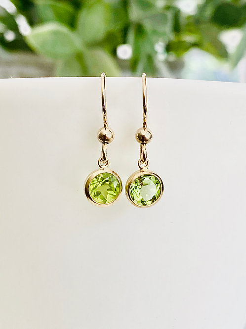 Little peridot earrings