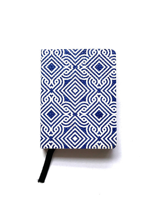 Small handmade notebook - the cover is made from recycled cotton remnants