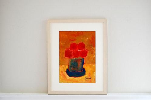 Oil on paper by Joan Queralt i de Quadras