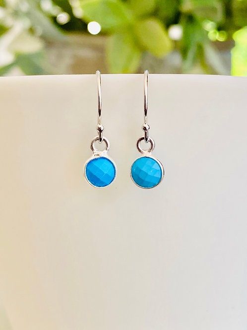 Little silver and turquoise earrings