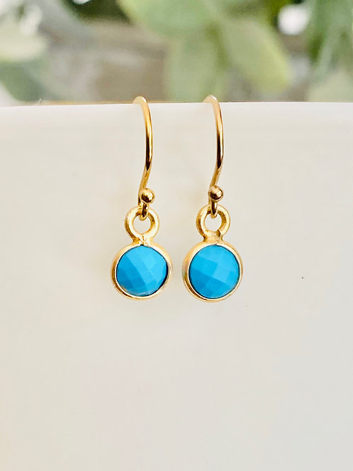 Little turquoise earrings
